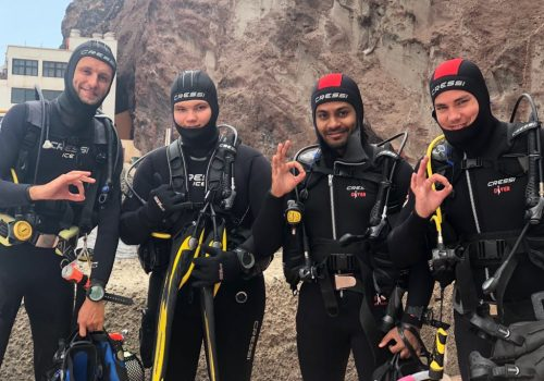 divers ready for sardina