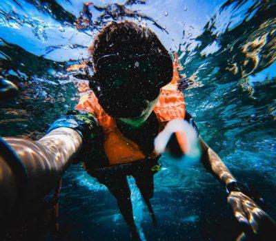 snorkeller in bahia feliz