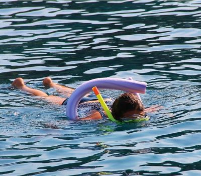 snorkelling with floatation devices