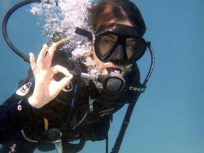 first scuba dive in amadores